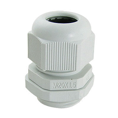 10 Pcs White Plastic Waterproof Cable Glands M20 x 1.5
