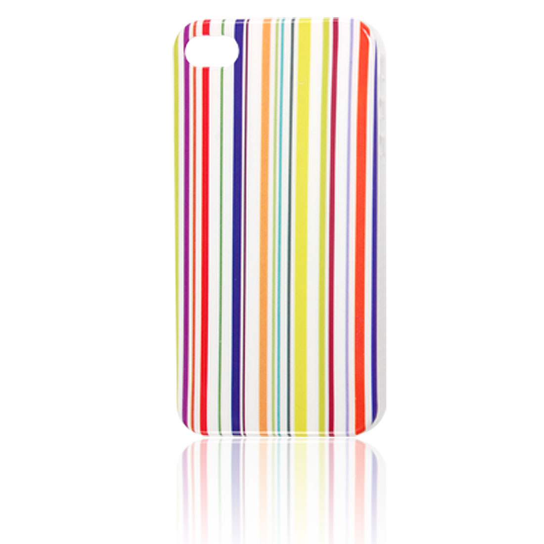 Pinstripe Print Hard Plastic IMD Back Cover for iPhone 4 4G
