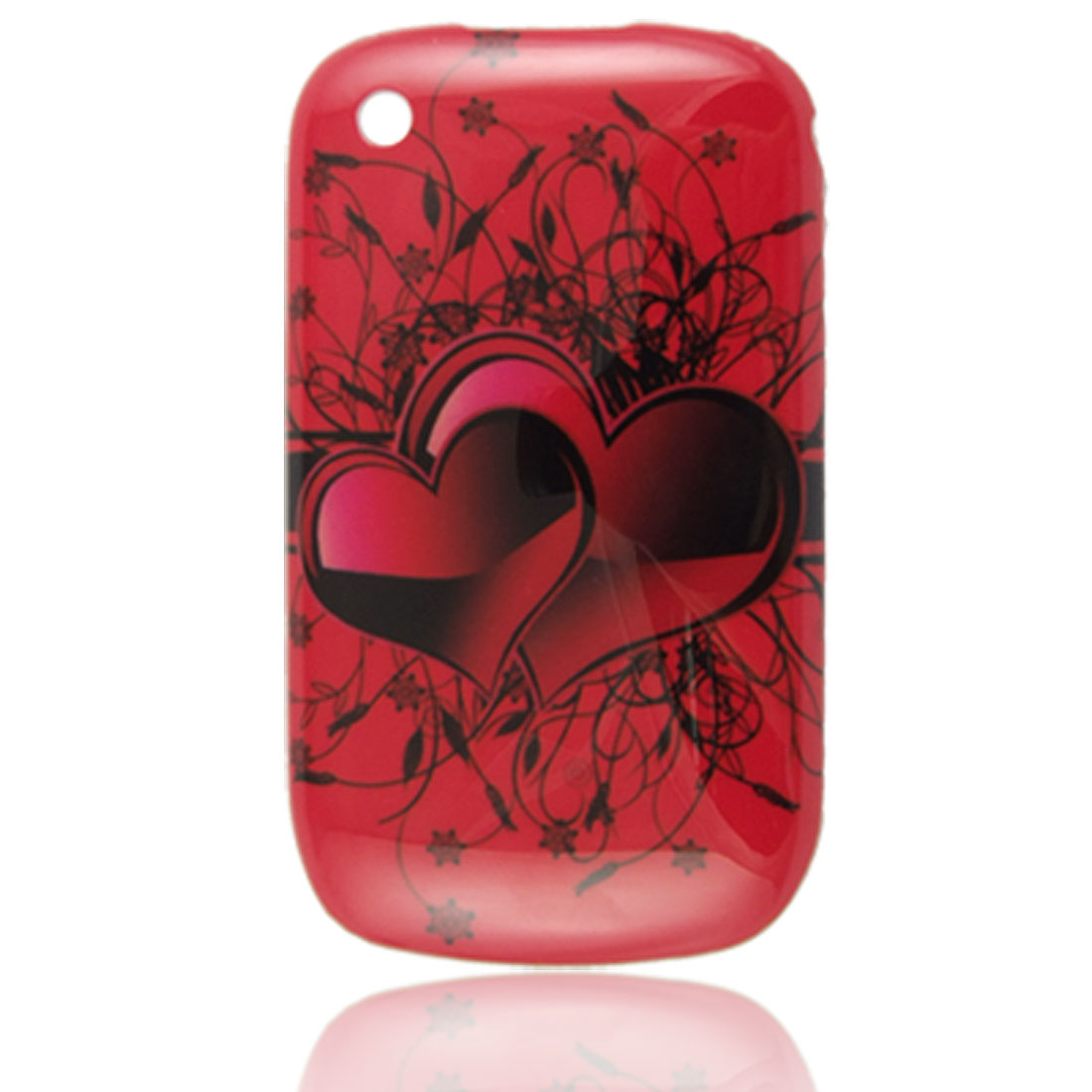 IMD Hard Plastic Black Red Back Case for Blackberry 8520