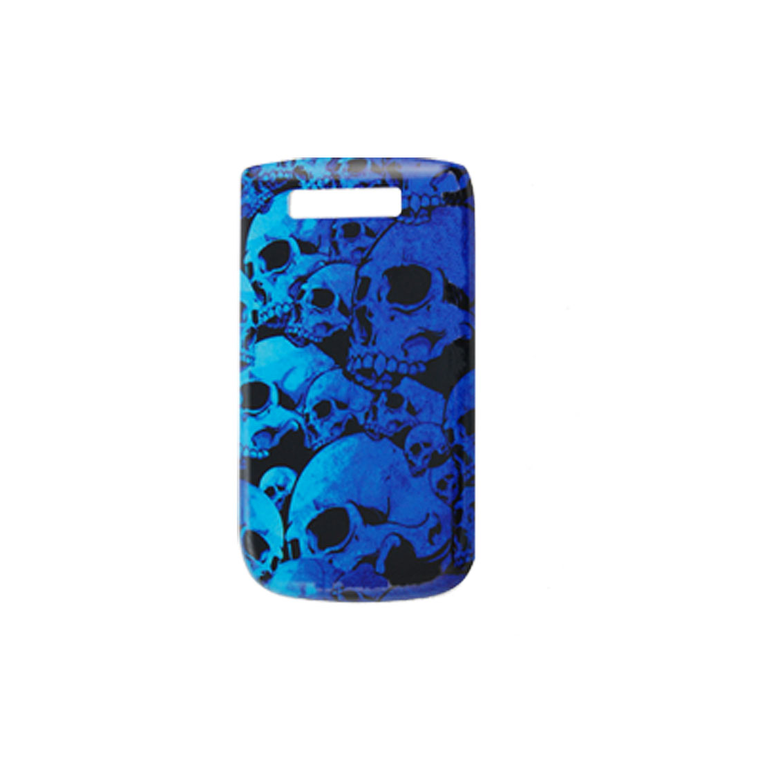 Blue Hard Plastic IMD Skull Print Shield Case for Blackberry 9800