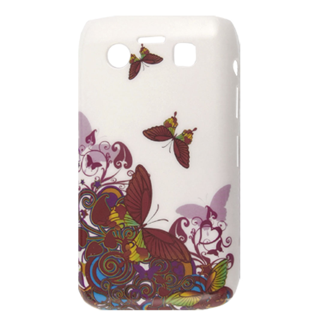 Colored Butterfly Pattern Plastic IMD Back Case for Blackberry 9700 9020