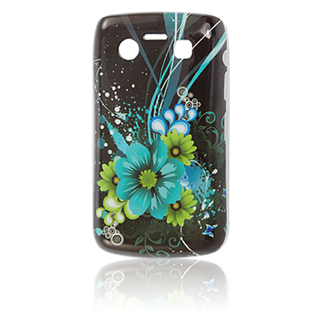 Butterfly Floral Printed Plastic IMD Back Shell for Blackberry 9700 9020