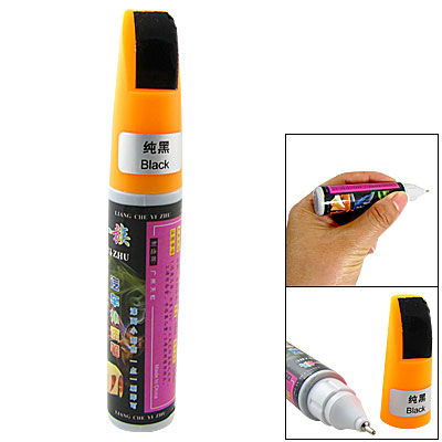 Orange Cup Black Repair Mending Touch up Paint Pen for Car