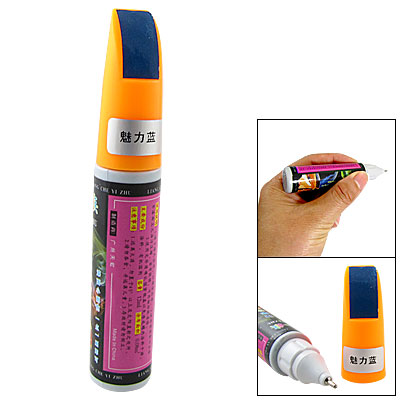 Orange Cap Car Auto Charm Blue Repairing Touch up Paint Pen