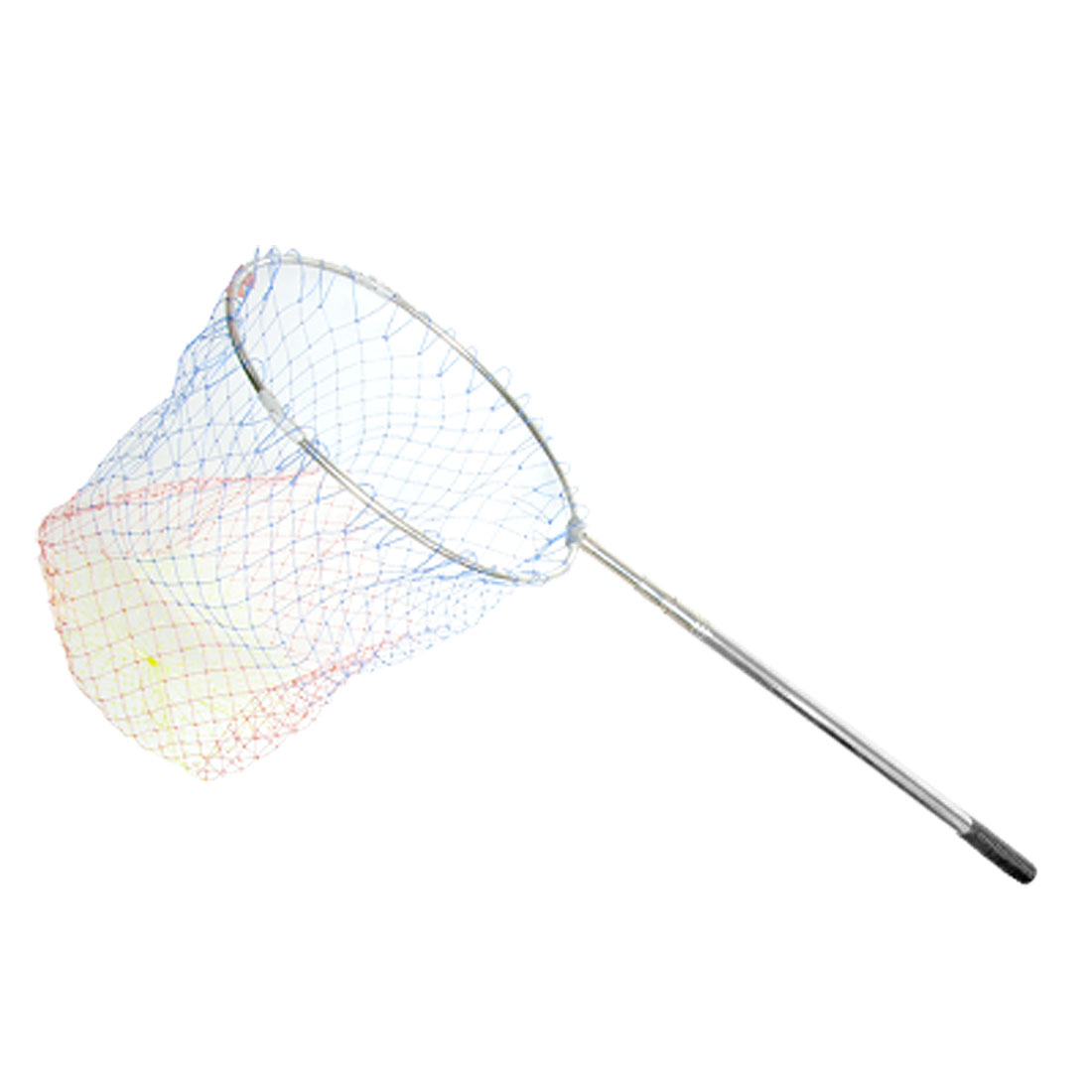 3 Sections Stainless Steel Telescopic Handle Round Fishing Landing Net