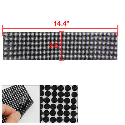 Black Self Adhesive Plastic Crystal Sticker for Car Interior Ornament