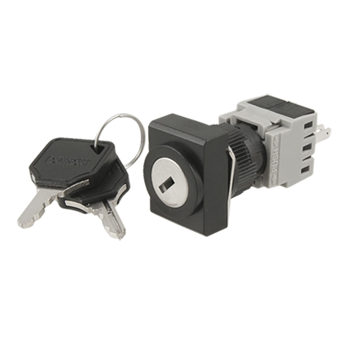 AC 250V 5A Two 2 Position Rotary Selector Key Lock Switch DPST 1 N/O NO 1 N/C NC