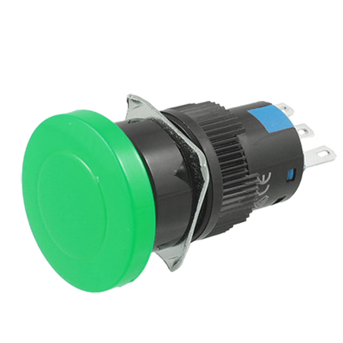 AC 220V Green Mushroom Button 1NO 1NC Type Momentary Contact Switch