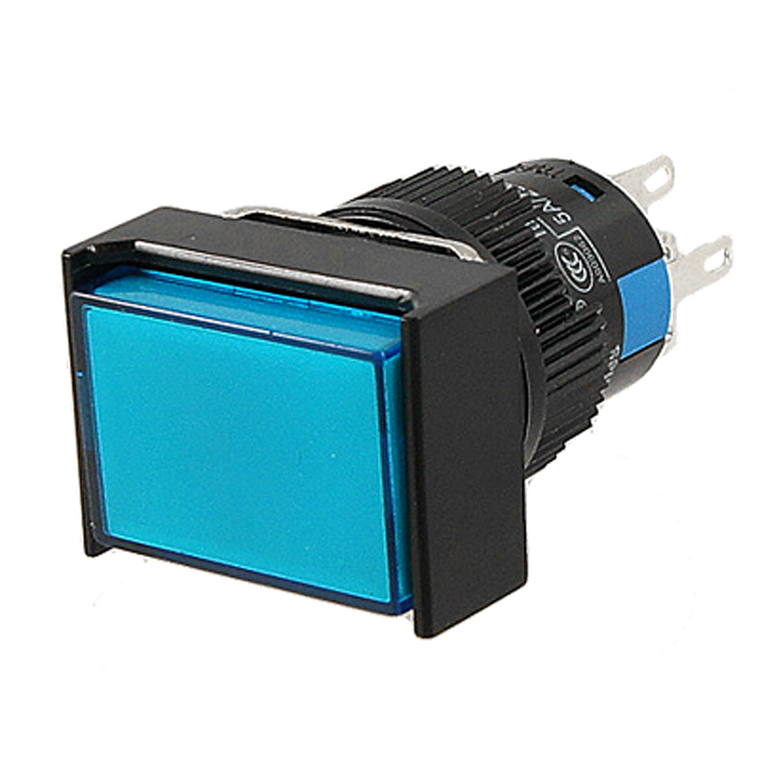 Rectangle Blue Cap Lamp 1NO 1NC Momentary Contact Push Button Switch