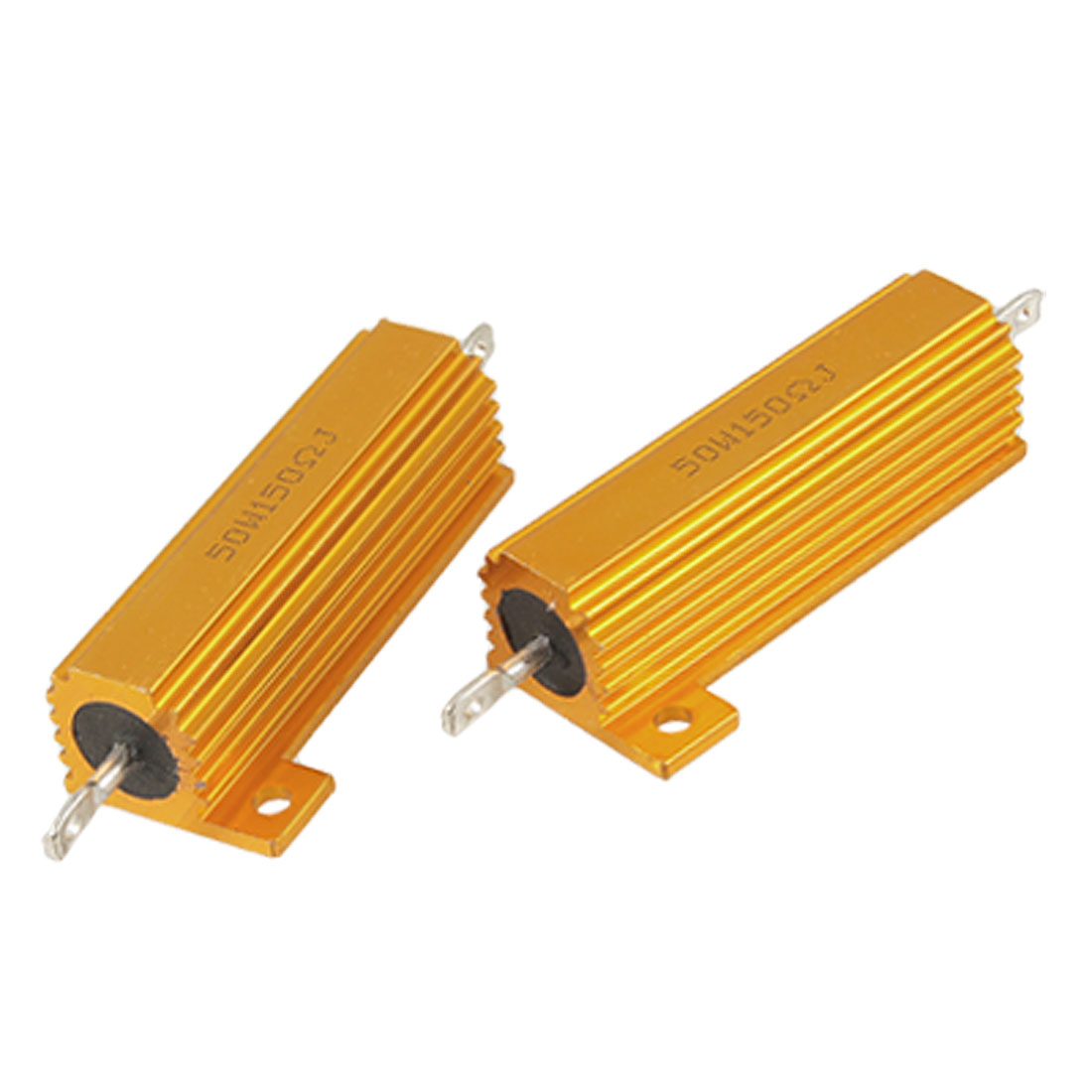 2 Pcs Screw Tabs Mounted 5% 150 Ohm Aluminum Resistors