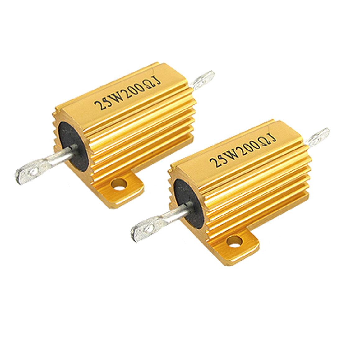 25W 200 OHM 200R Aluminium Clad Resistor 25W Watt x 2