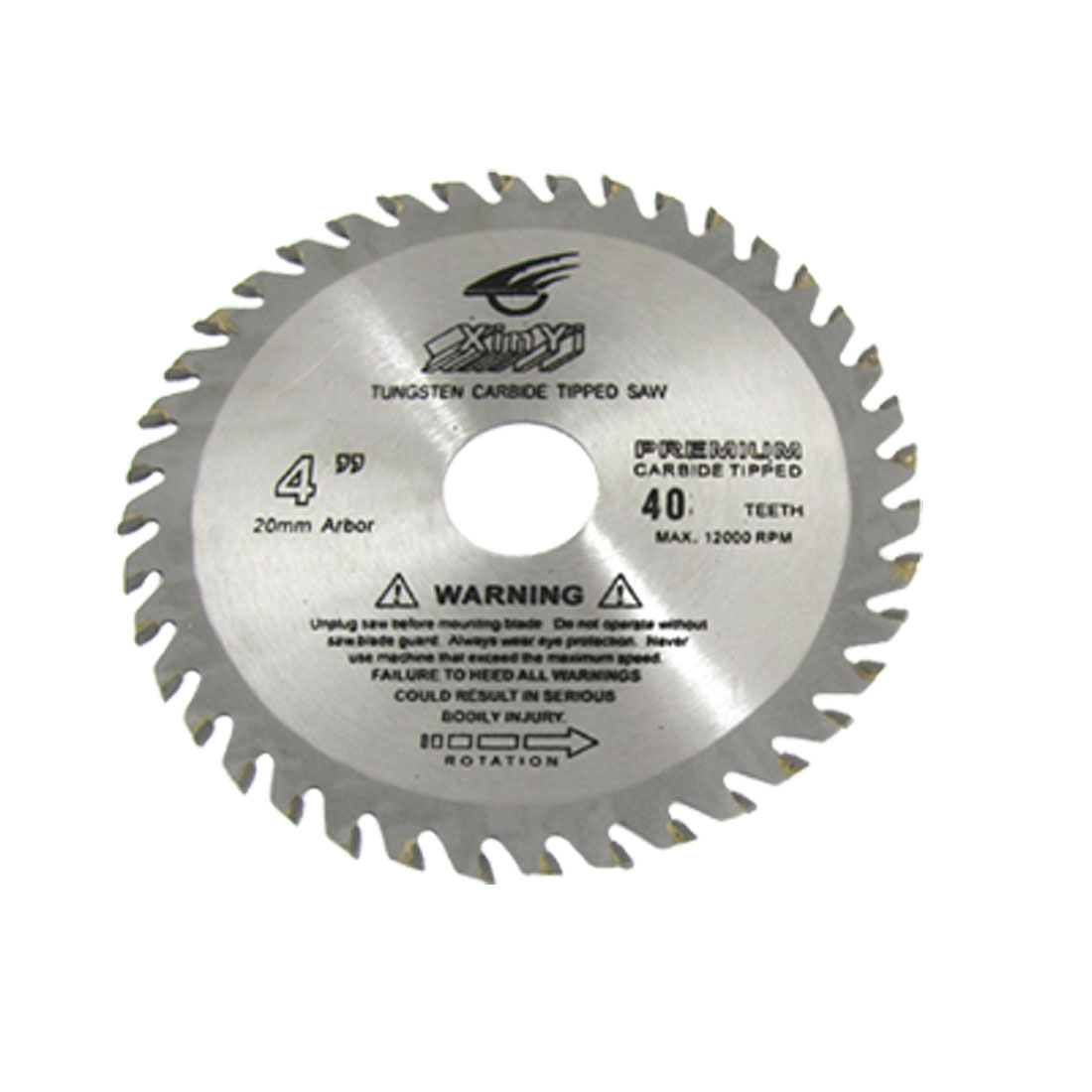 "Lumber Cutter 4"" Diameter 40 Toothed Circular Saw Cutter"