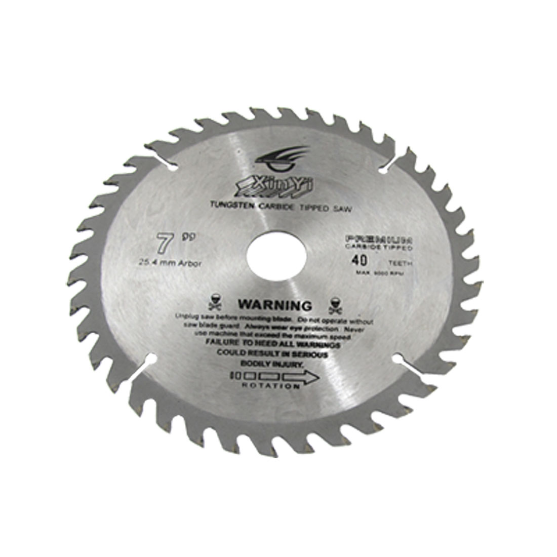 "7"" Diameter 40 Toothed Tungsten Carbide Tipped Cutter"