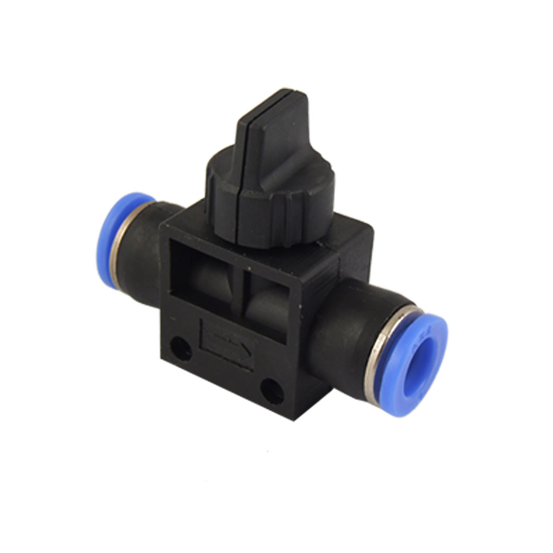 5 Pcs 8mm One Touch Tube Pneumatic Fitting Hand Control Valve