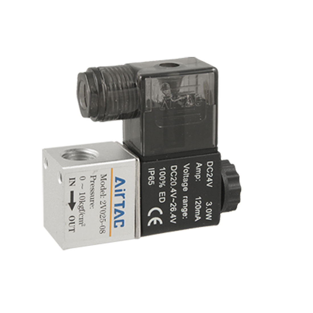 2V025-08 DC 24V 120mA 2 Position 2 Way Solenoid Valve