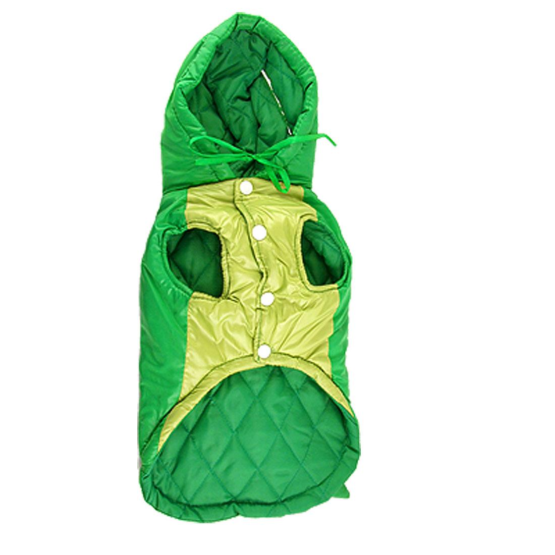 Size L Winter Green Dinosaur Design Pet Dog Clothes Hood Coat Dress Jumpsuit