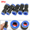 Pneumatic Tubing 8mm to 10mm One Touch Push In Quick Fittings 5 Pcs