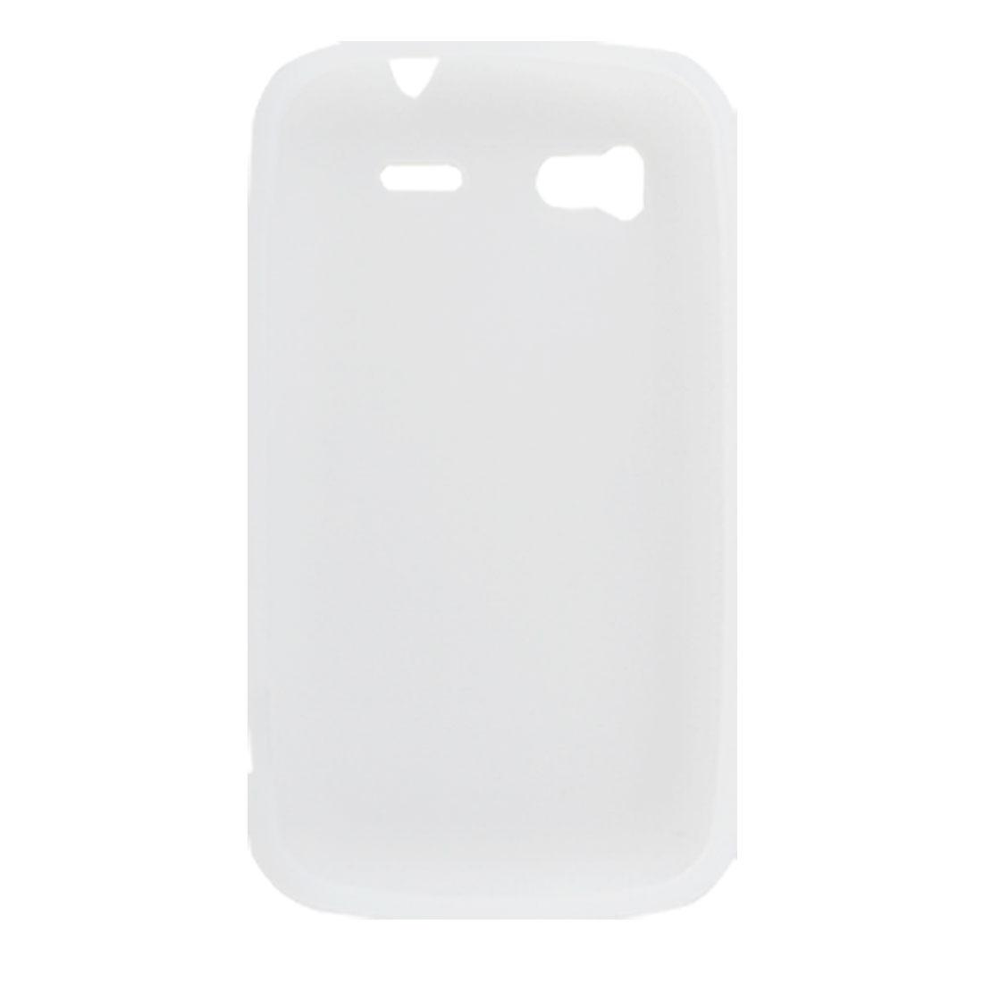 White Silicone Protective Case Cover for HTC Sensation 4G