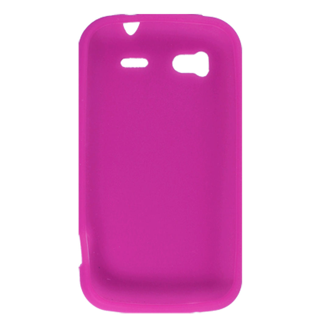 Protective Soft Silicone Case Shell Fuchsia for HTC Sensation 4G