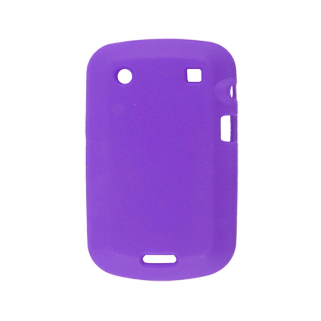 Purple Soft Silicone Skin Case for Blackberry 9900 9930