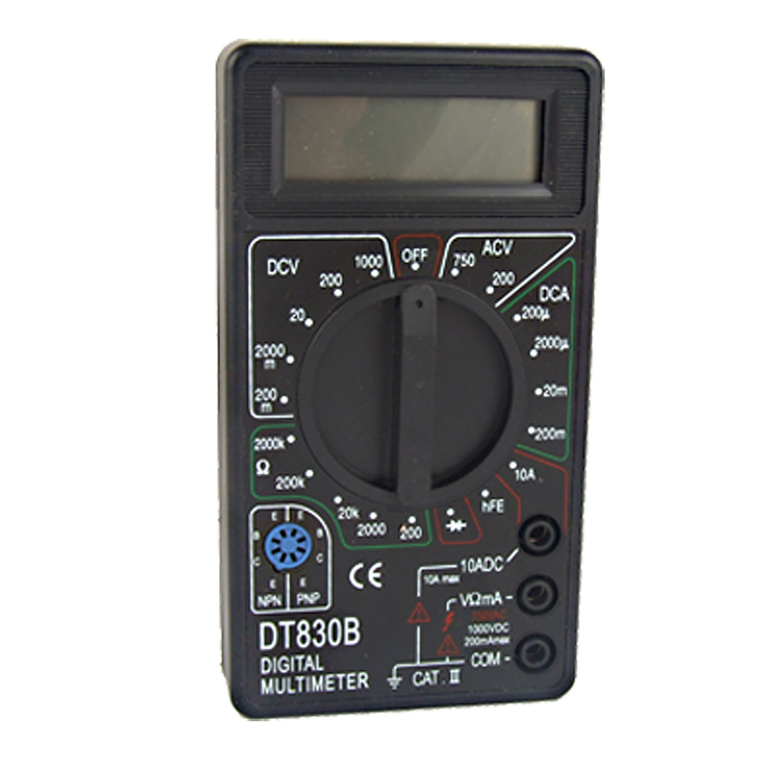 Portable AC DC Volt Ohm Measuring LCD Digital Multitester