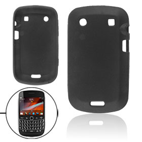 Black Silicone Skin Case Guard for Blackberry 9900 9930