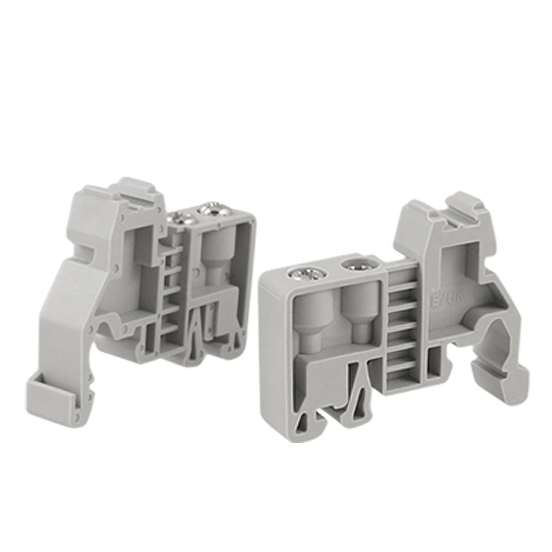 2 Pcs 35mm Din Rail Screw Fixed Terminal Block End Stopper Clamps