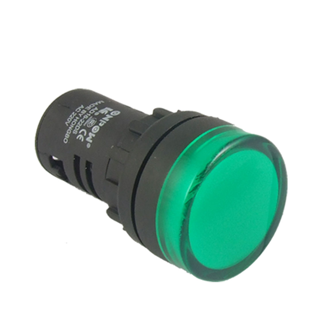 AC 220V Plastic Case Green Indicator Light Pilot Signal Lamp