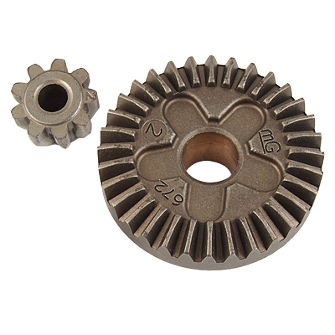Replacement Part Metal Straight Bevel Gear 2 Pcs Set