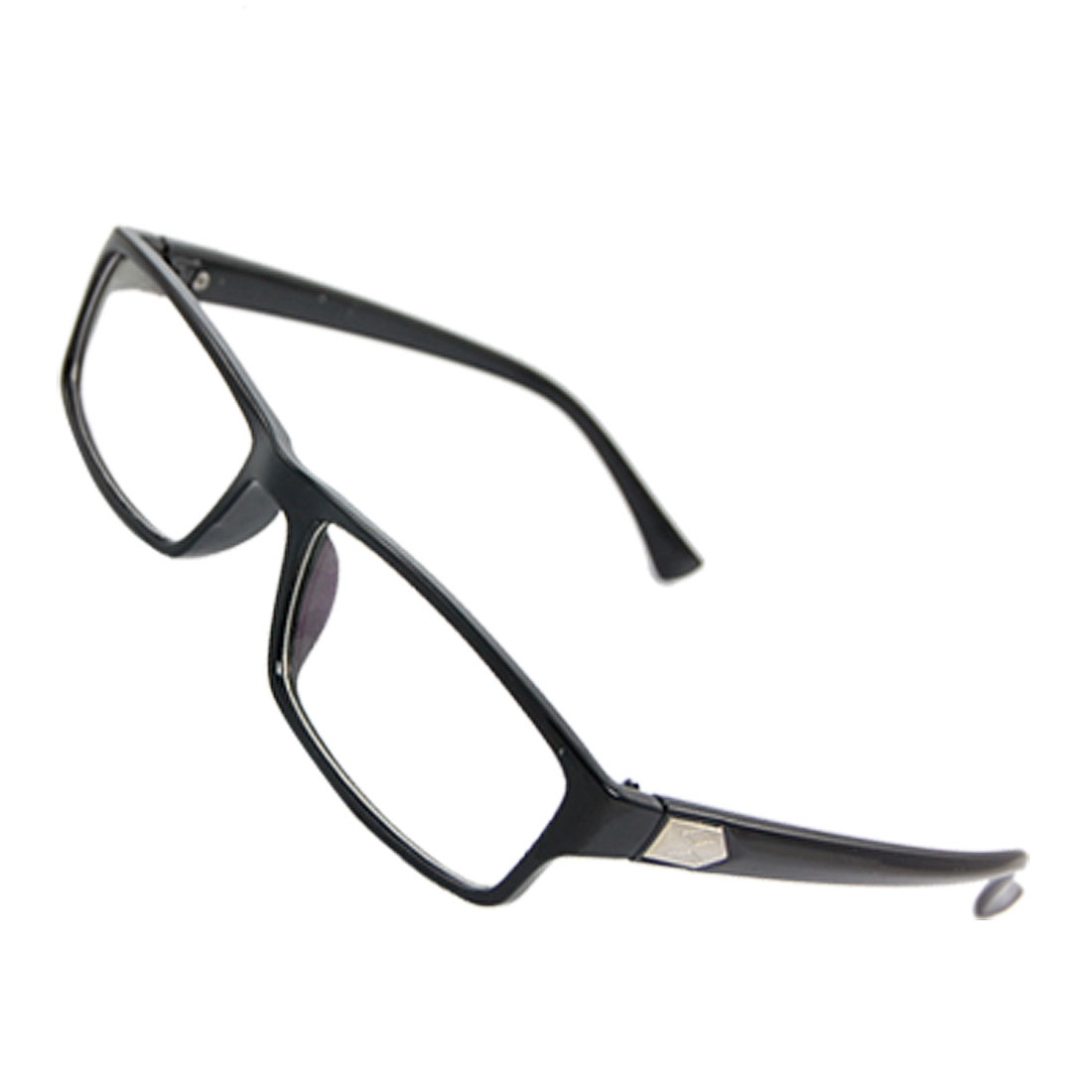 Lady Black Plastic Arms Full Rim Multi Coated Lens Plain Glasses