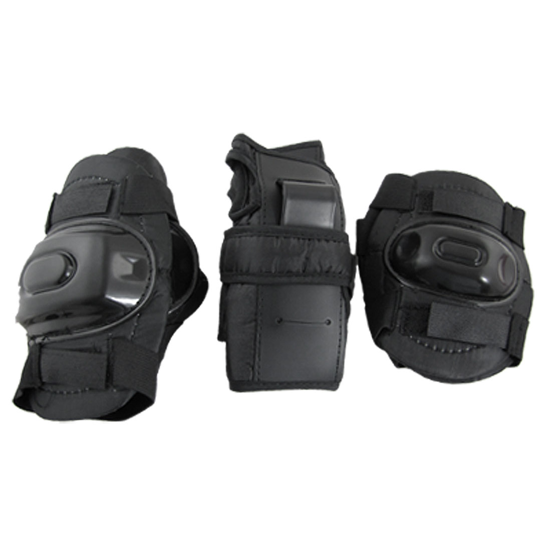 Child Black Protective Gear Knee Elbow Wrist Protector Support