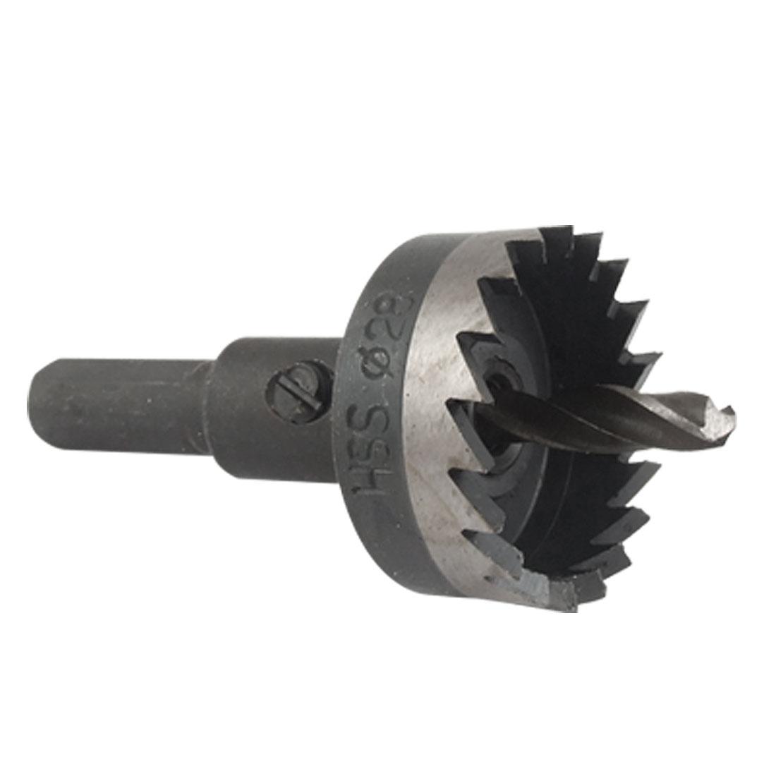 Twist Drill Bit 3 Flat Shank 28mm Dia Hole Saw Metal Cutter