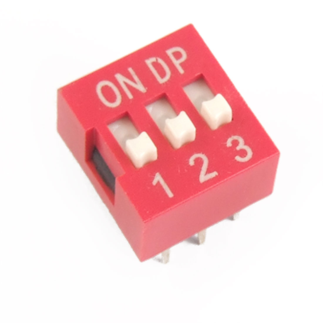 10 Pcs 2.54mm Pitch 3 Position Piano Type DIP Switch Red Guupu