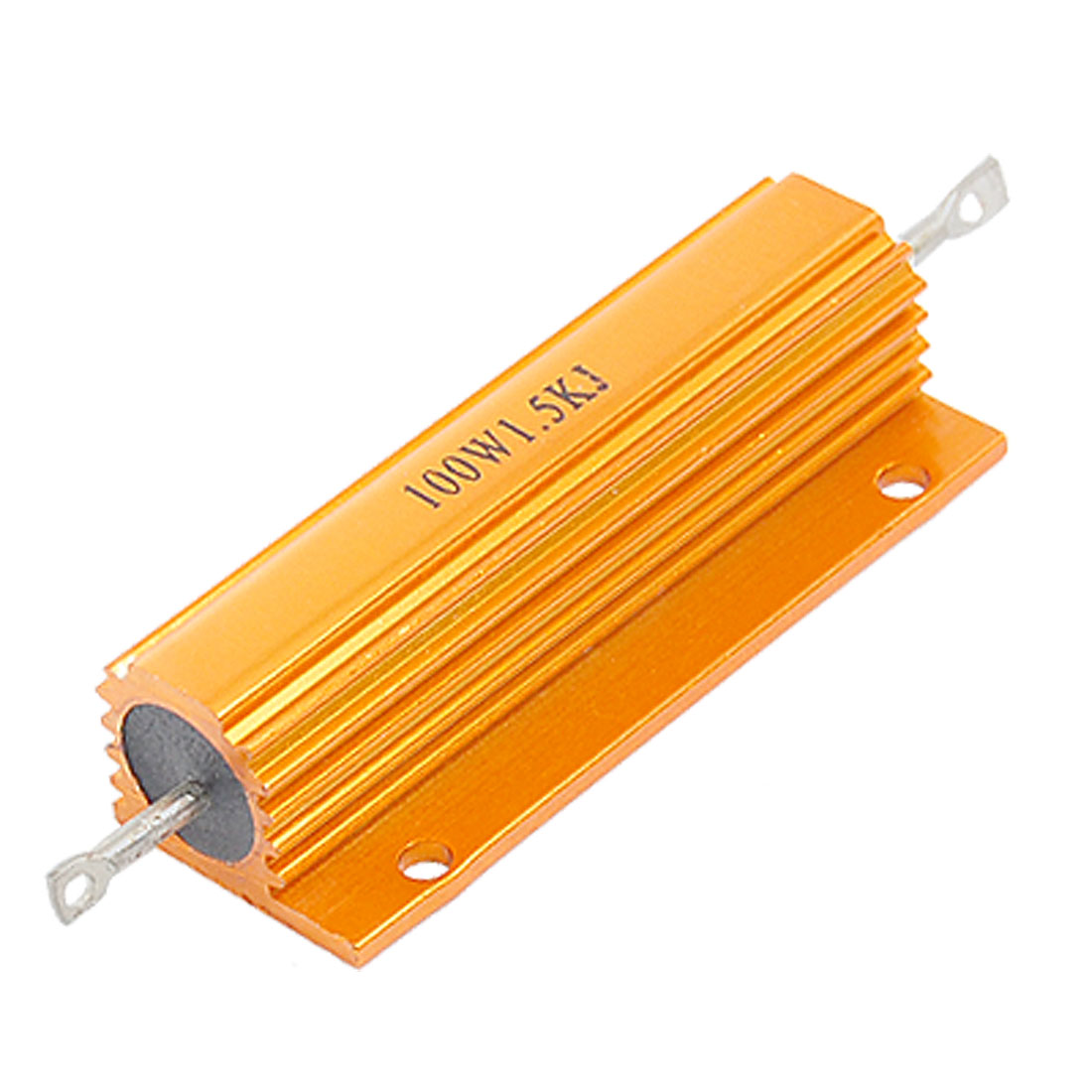 Gold Tone Aluminum Housed Resistor 100W Power 1.5K Ohm 5%