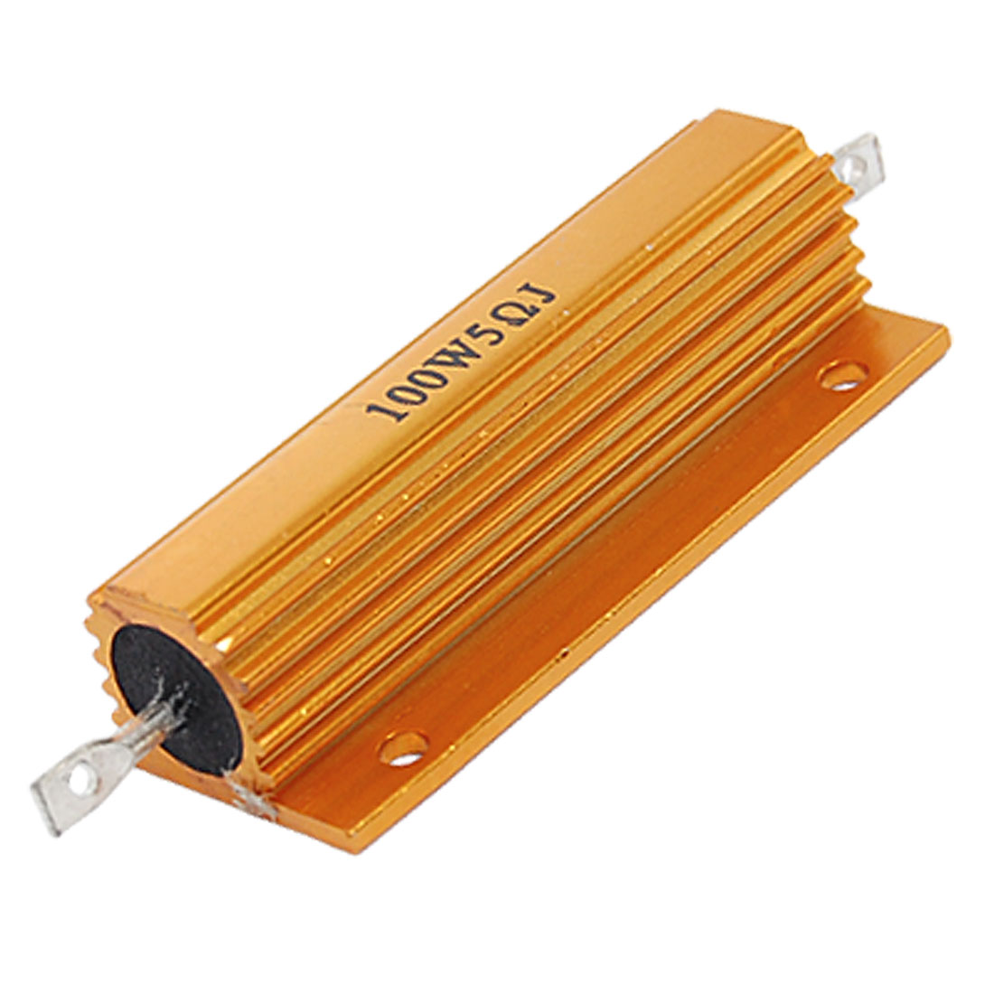 Gold Tone 100W 5 Ohm 5% Aluminum Housed Wire Wound Resistor