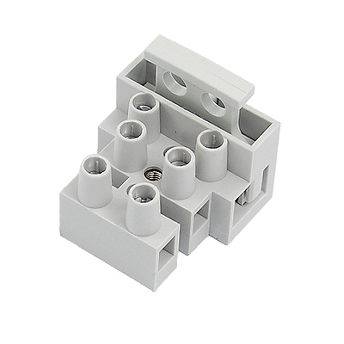 10 Pcs 3 Pole 10mm Pitch Fuse Terminal Block Connector Gray