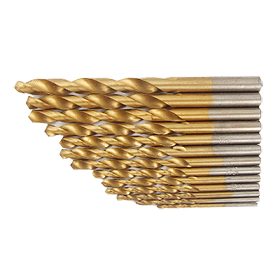13 Pcs Bronze Tone Straight Shank HSS Twist Drill Bit