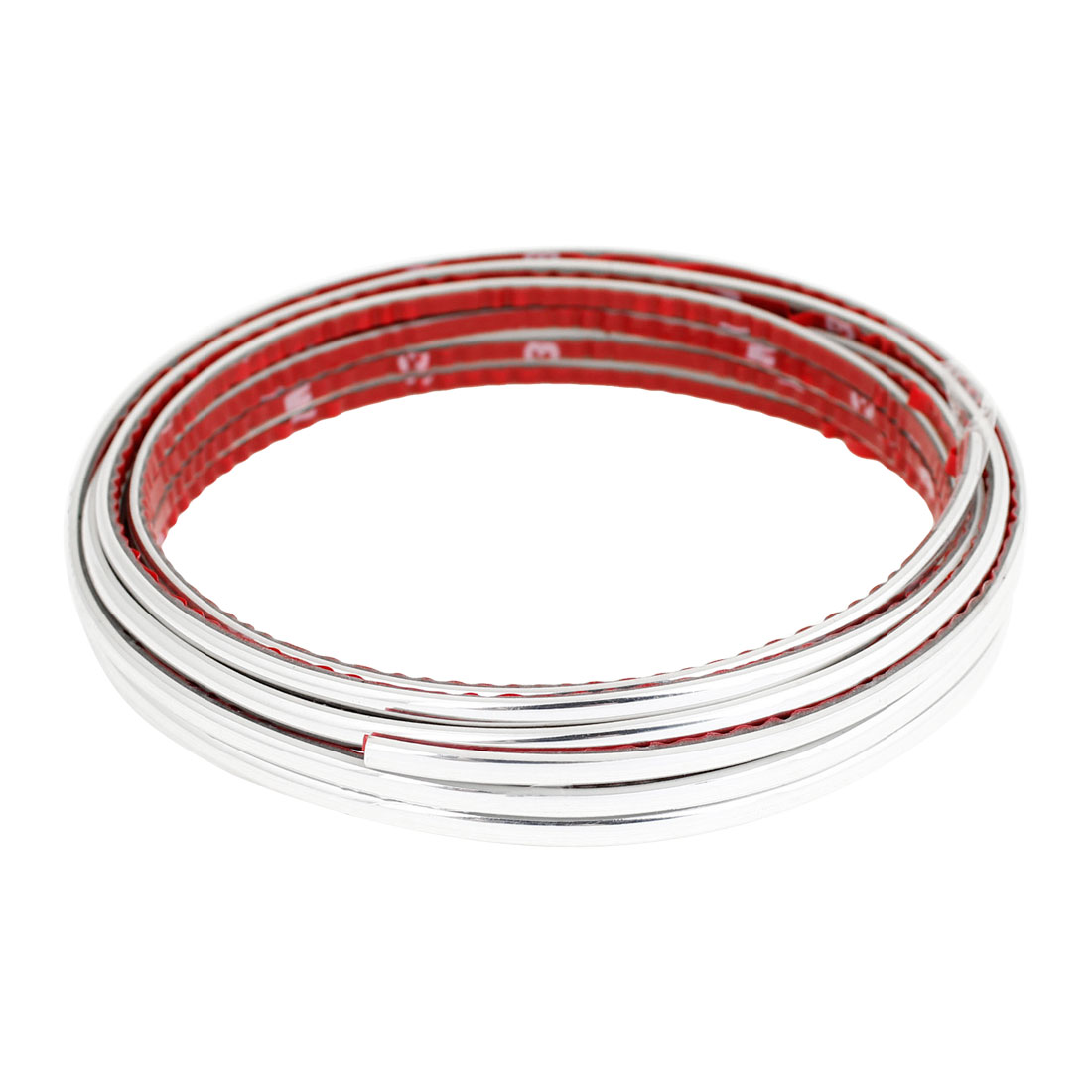 Silver Tone Car Decorative Moulding Trim Strip Molding Line 4mm x 3 Meters