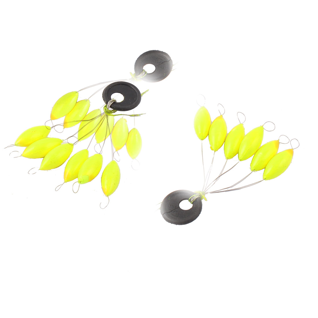 3 Pcs Mini 6 in 1 Yellow Plastic Fishing Floater Stopper Size 5