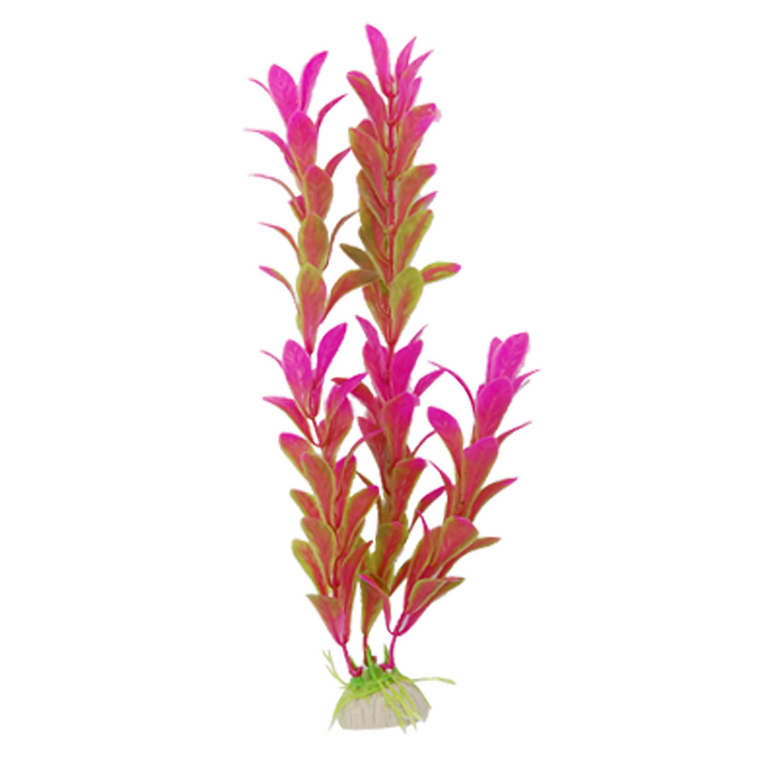 Aquarium Fish Tank Fuchsia Green Artificial Plastic Plants