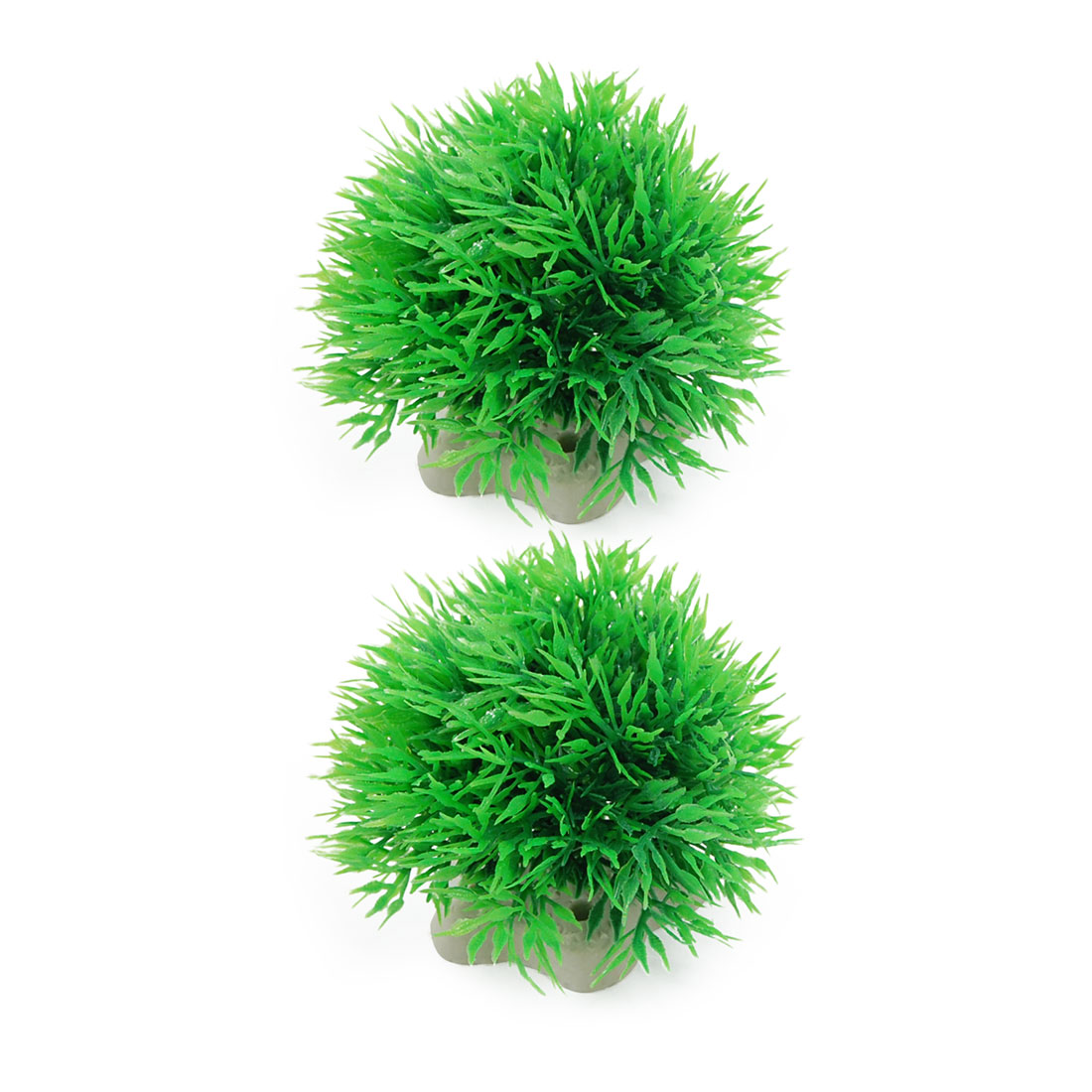 Aquarium Fish Tank Green Plastic Plants Decoration 2 Pcs Rbvvv