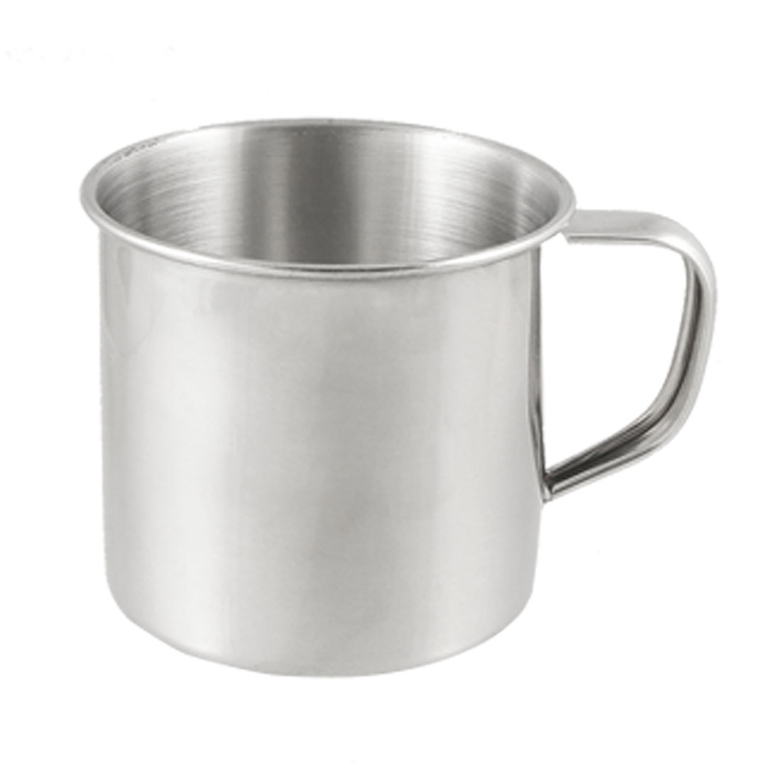 7.5cm Diameter 200ML Stainless Steel Water Cup Mug Silver Tone