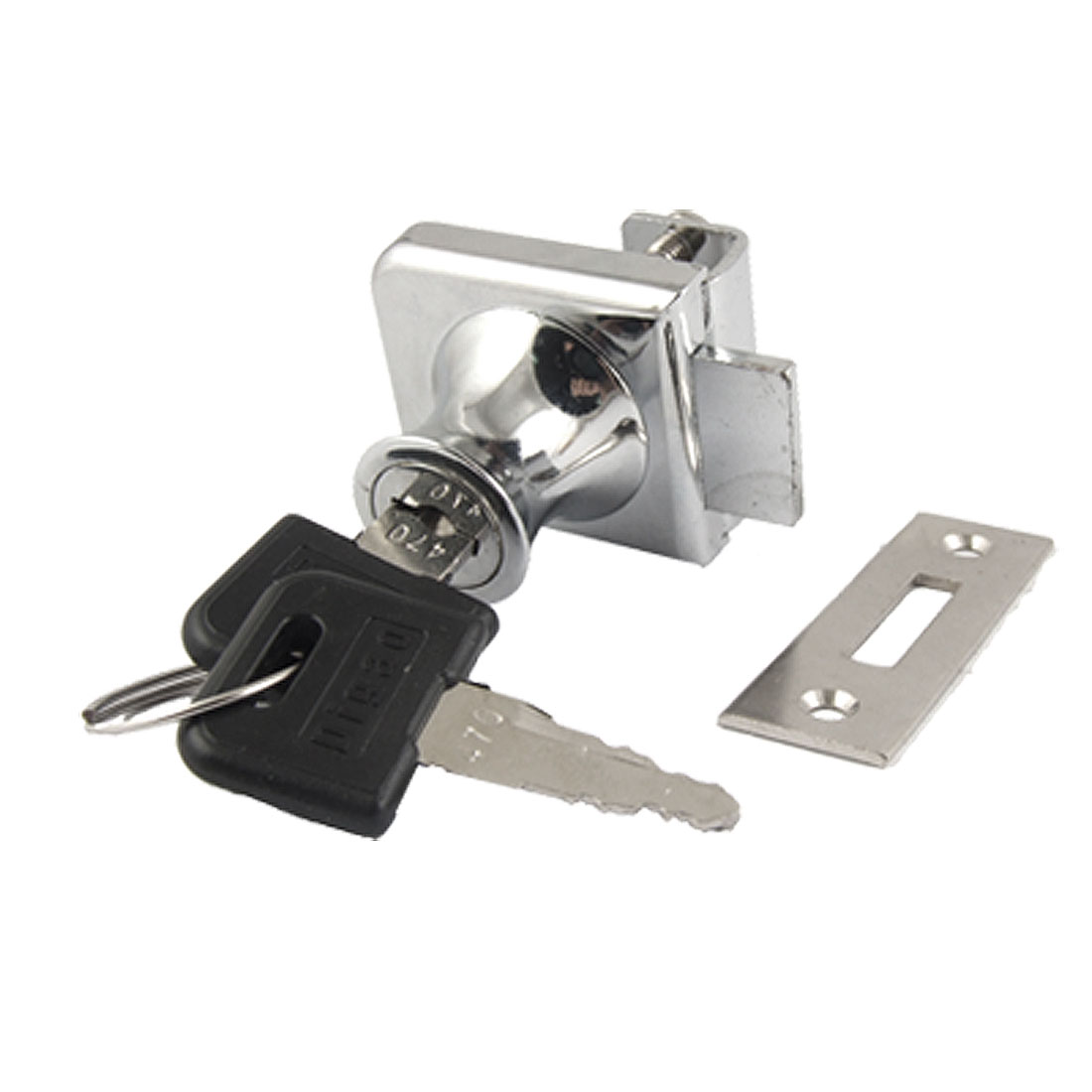 Single Door Cylinder Rim Security Lock w keys for Glass Cabinet