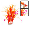 Aquarium Fish Tank Pink Flower Orange Plastic Plants Ornament