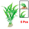 Aquarium Fish Tank Green Artificial Plastic Grass 5 Pcs Aewyu
