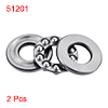 2 Pcs Auto Machine Single Direction Ball Bearings 51201