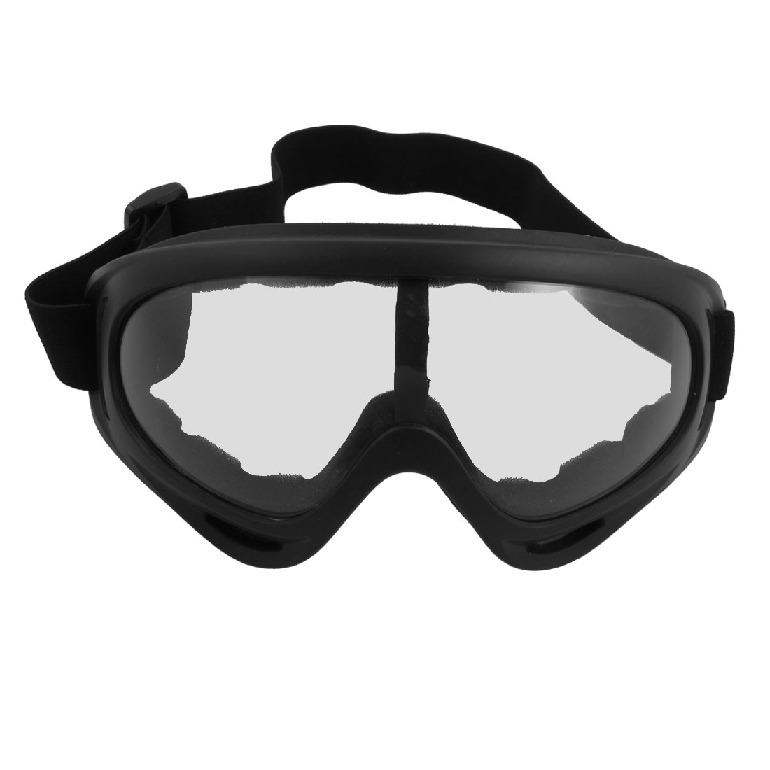 Men Goggles Headband Safety Glasses Wind Dust Motorcycle Protection Black Clear