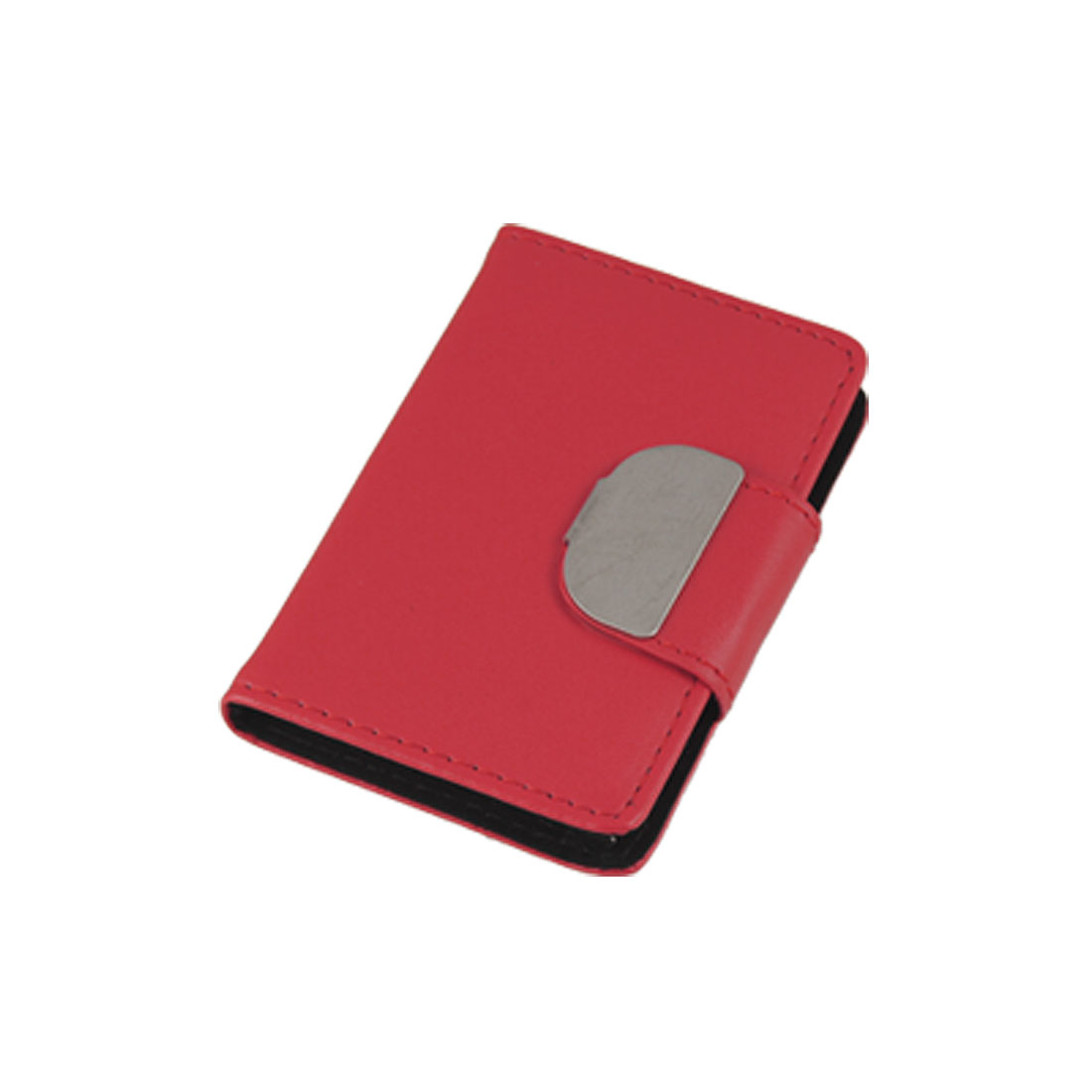 Red Flap Closure Case Holder for Business Credit ID Card