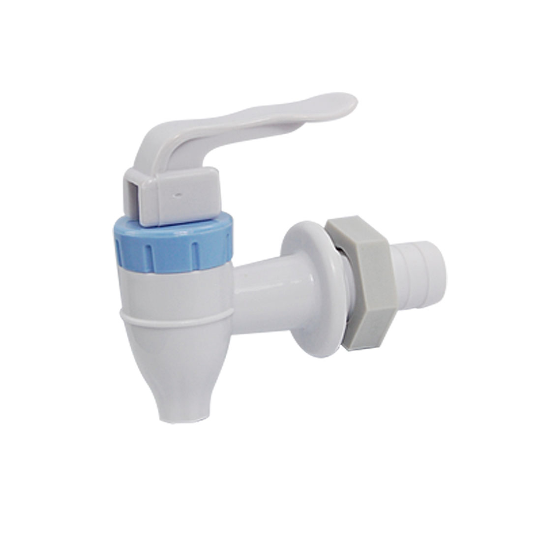 Push Type White Blue Plastic Tap Faucet for Water Dispenser