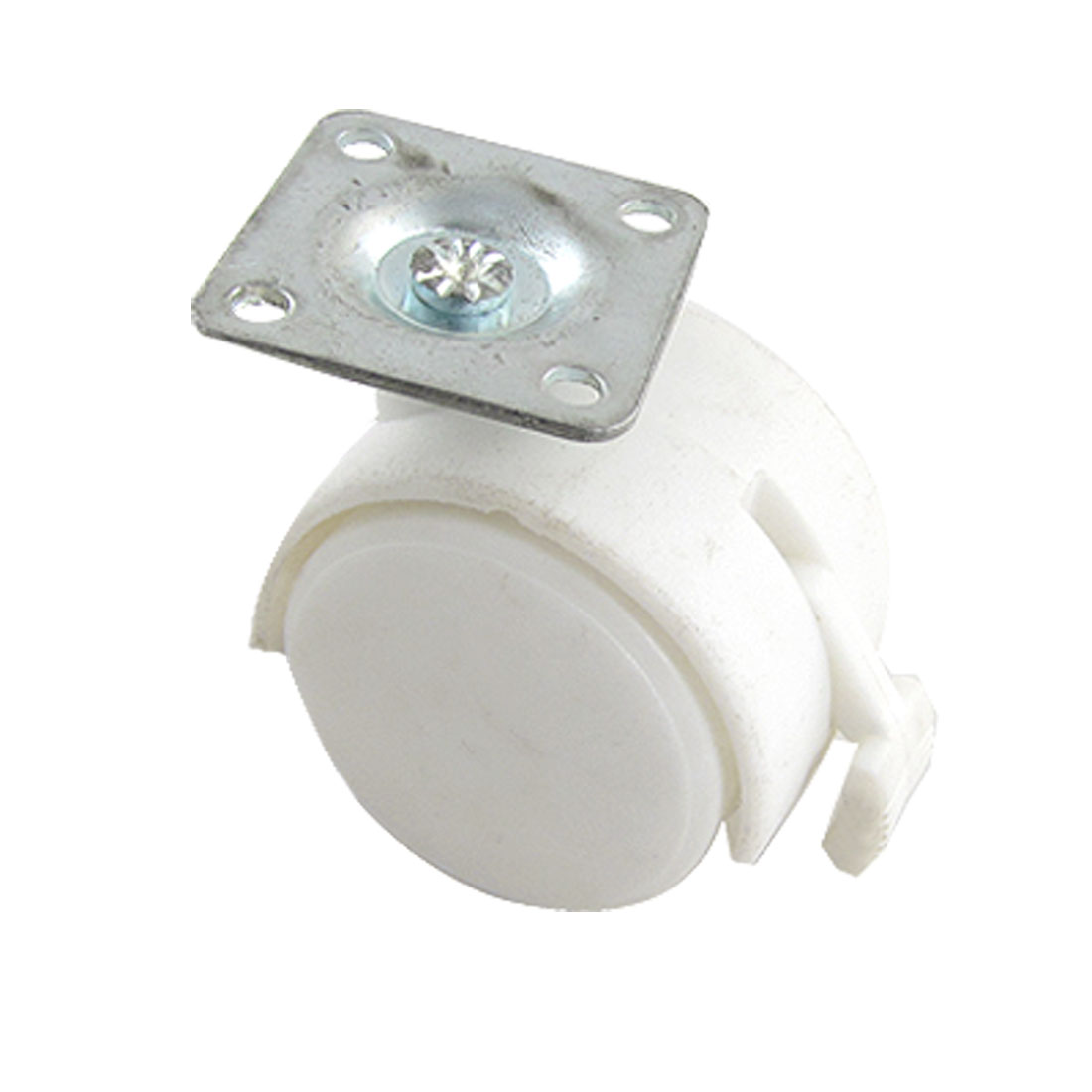 "Chair Trolley Plate Connector Lock Swivel 1.5"" Caster White"
